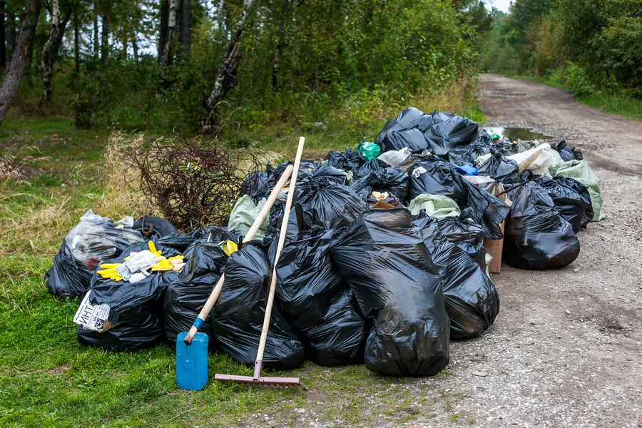 Картинки как убирают мусор
